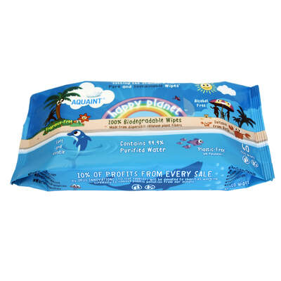 Biodegradable Wet Wipes 60 Pack