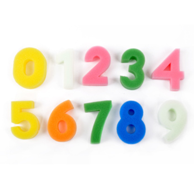 Foam Number Shapes x 10