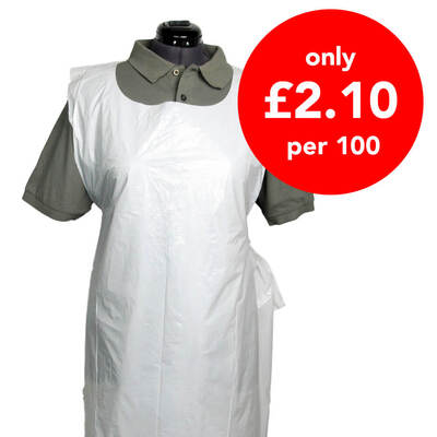 PHE Polythene Aprons White 600