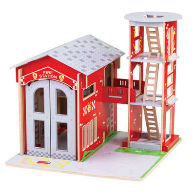 Small World Wooden Fire Station