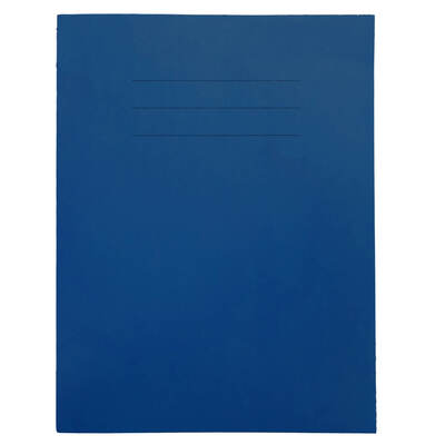 """Exercise Book 9x7"""" Lined 48 Page Box 50 - Colour: Blue"""