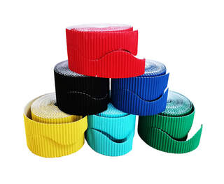 Border Rolls Wavy Assorted 10cm x 15m 6 Pack