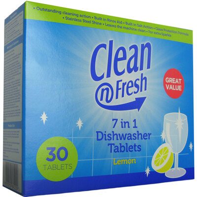 7 in 1 Dishwasher Tablets Lemon 30x8