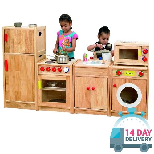 wooden play kitchen - Play Kitchen