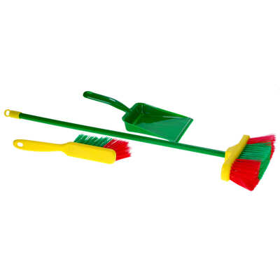 Broom and Dustpan Play Set 3 Pack