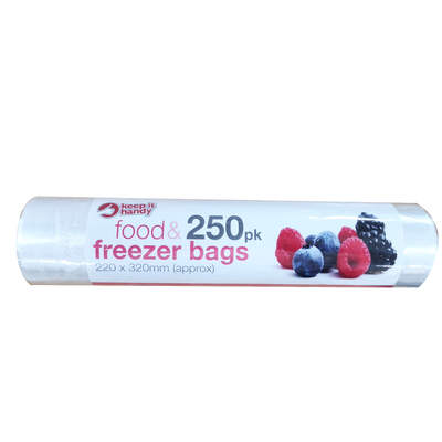 Food and Freezer Bags 250 Pack