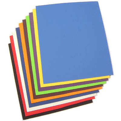 Neoprene Sheets Assorted 25x30cm 10 Pack