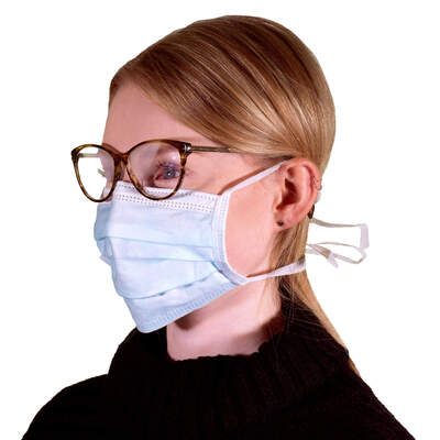 Type IIR Surgical Face Mask Tie On 50 Pack