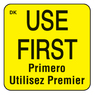Use First Permanent Food Rotation Label 25mm x 25mm 1000