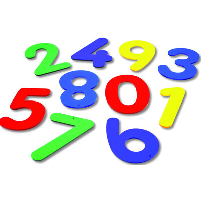 Acrylic Numbers 0 To 10 12 Pk