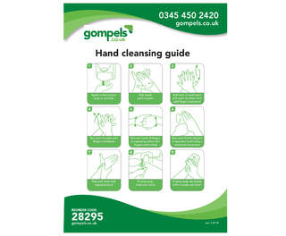 Hand Washing Guide Sign A5 Wipe Clean