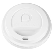 White Domed Sip-Thru Lid To Fit 8-16oz 100 Pack