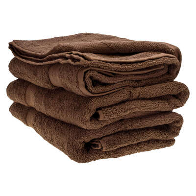 Bath Towel 70x130cm 500gm x 3 - Colour: Cocoa