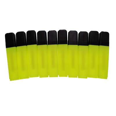 Highlighter Pens Pack 10 - Colour: Yellow