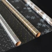 Festive Transparent Foil 70cm x 2m Assorted Pack 3