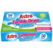 Fragrance Tumble Dryer Sheets 50pk