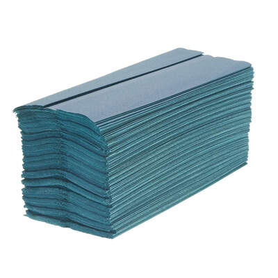 C Fold Paper Hand Towels Blue 1ply 2640