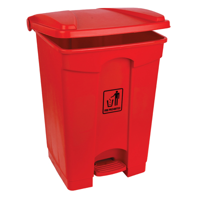 Soclean Pedal Bin 45l - Colour: Red
