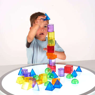 Geometric Shapes Translucent Assorted 36 Pack