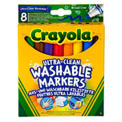 Crayola Broad Line Markers Assorted Pack 8