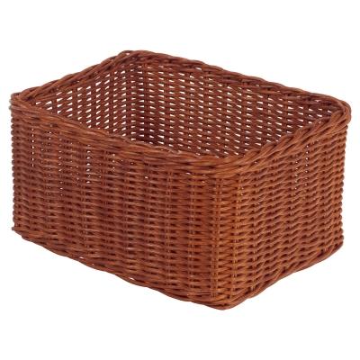 Wicker Storage Baskets Large 6 Pack