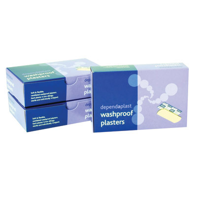 Washproof Plasters 7.5cm x 2.5cm 100