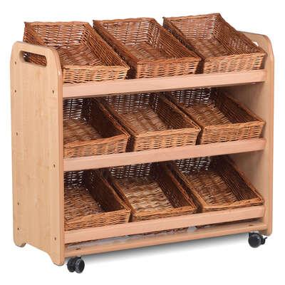 Tilt Tote Storage Trolley 750x900mm With 9 Baskets