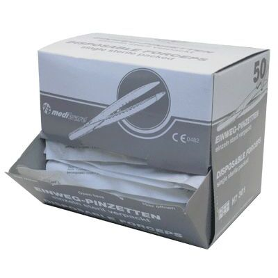 Mediware Forceps Disposable Clear Sterile 50