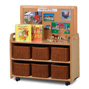 Mobile Shelf 660x900mm With 6 Baskets and Display Panel