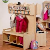 Freestanding Cloakroom Unit x 4