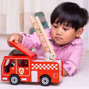 Small World Wooden Fire Engine