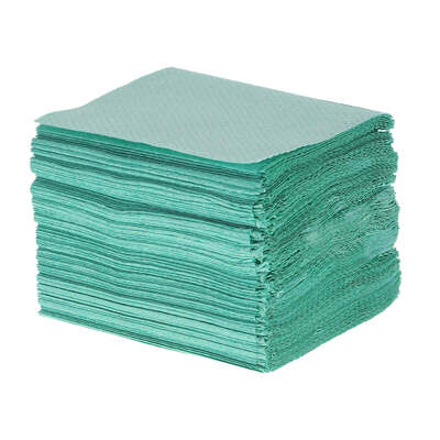 Soclean Childrens V Fold Green Paper Towels 1ply 10000