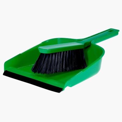 Dustpan & Brush Set - Colour: Green