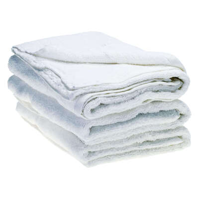 Bath Towel 70x130cm 500gm x 3 - Colour: White