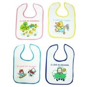 Baby Velcro Easy Fastening Bibs Assorted x 12