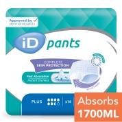 iD Pants Adult Pull Ups Xlarge Plus 14