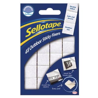 Sellotape Sticky Fixers Outdoor 48pk