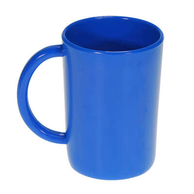 Gompels Super Tuff Handled Mug 10oz 6pk - Colour: Blue