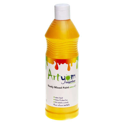 Ready Mixed Poster Paint 600ml - Colour: Yellow
