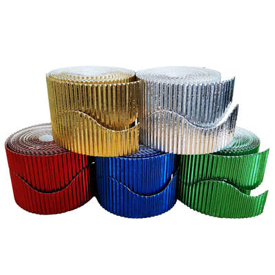 Border Rolls Metallic Wavy Assorted 5 Pack
