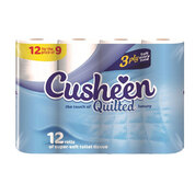 Cusheen Luxury Quilted Toilet Paper 3ply 12 Pack