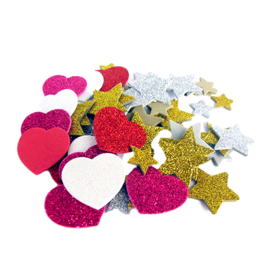 Gompels Hearts & Stars Glitter Craft Pack 400 Pieces