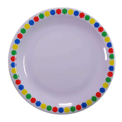 "Swixz Melamine Side Plate 6.25"" / 160mm 12 Pack - Colour: Patterned"
