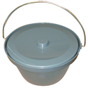 Commode Pan With Lid & Handle