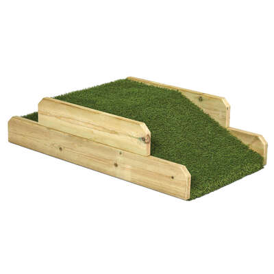 Wooden Outdoor Step and Crawl for Under Age 2