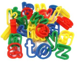 Plastic Dough Cutters Lower Case Alphabet Pack 26