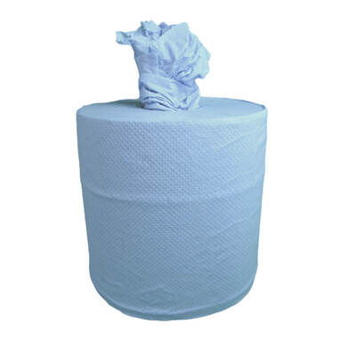 Centrefeed Blue Rolls 2ply 140m 6 Pack