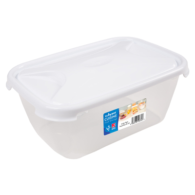 Rectangular Food Storage Box With Lid - Size: 3.6l