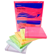 Sticky Notes Assorted Neon and Pastel 76mm x 76mm 12 Pack