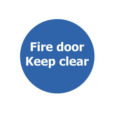 Fire Door Non Marking Adhesive Sign x 3 - Design: Keep Clear